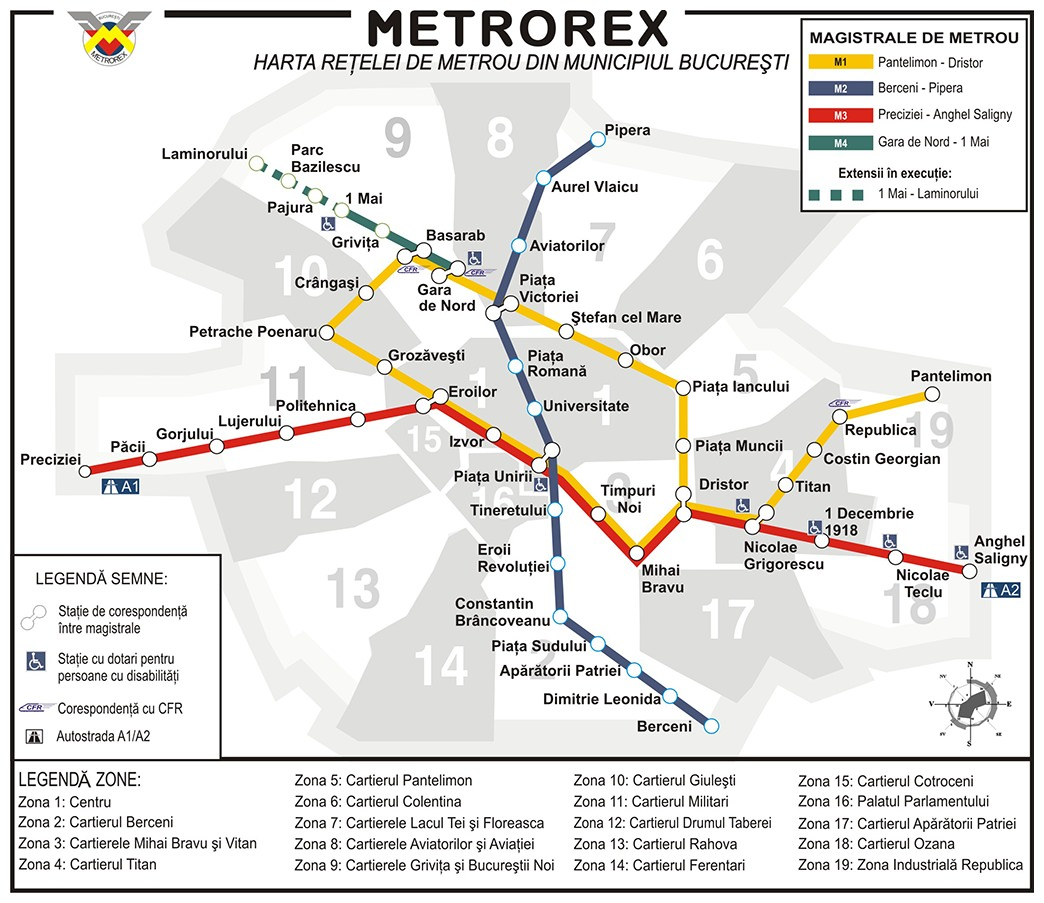 Harta Metrou Bucuresti Bucharest Step By Step
